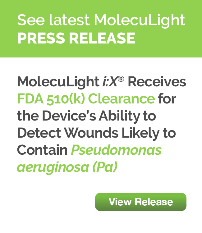 MolecuLight <strong><em>i:</em></strong><em>X</em><sup>®</sup> Receives FDA 510(k) Clearance for the Device's Ability to Detect Wounds Likely to Contain <i>Pseudomonas Aeruginosa (PA)</i>